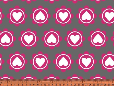 05m Jersey Retro Heart grau pink
