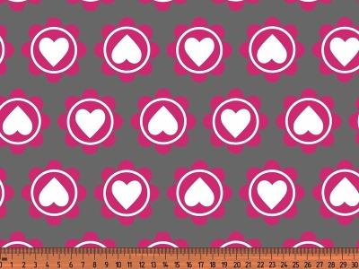 0,5m Jersey Retro Heart grau pink