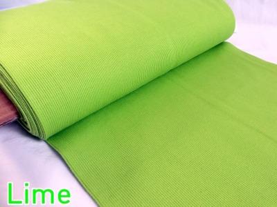 05m Bündchen Ripp Bibi lime grün