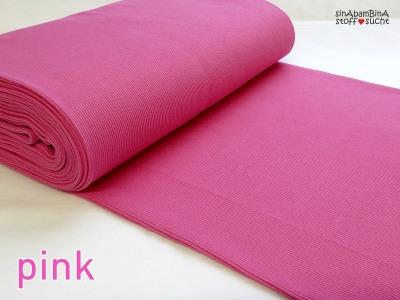 0,5m Bündchen Bibi pink rosa 409
