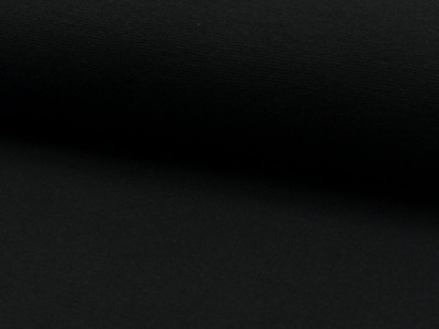 05m Bündchen glatt schwarz black 069