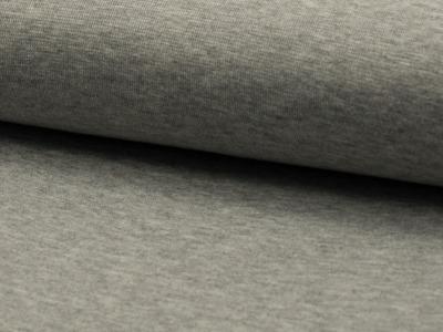 05m Bündchen glatt meliert grau