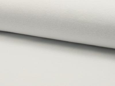 0,5m Bündchen uni weiß glatt