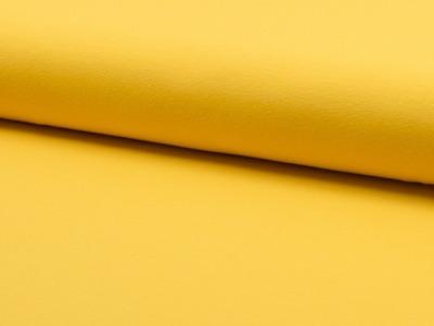 0,5m Baumwoll Jersey uni gelb sonnengelb Basic