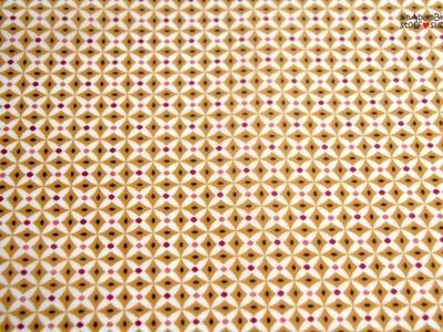 0 5m Beschichtete Baumwolle PU Retro braun weiss