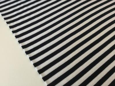0,5m Ringel Bündchen glatt weiß Navy Dunkelblau