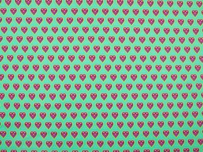 0 5m Jersey Herzen mint tuerkis pink Kombi