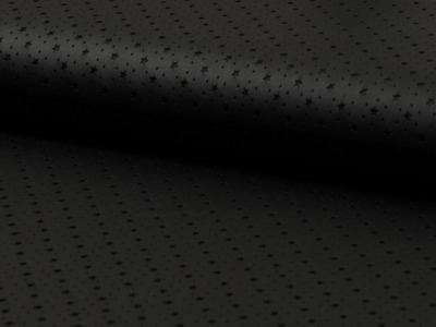 0 5m Laser Cut Kunstleder weich schwarz Sterne