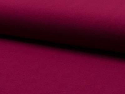 0,5m Baumwoll Jersey uni Bordeaux bordo dunkelpink