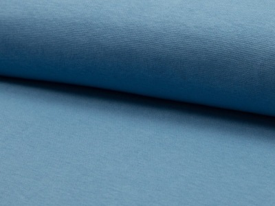 05m Bündchen glatt dusty blue jeansblau