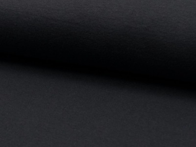 0,5m Bündchen glatt dunkelgrau anthrazit grey