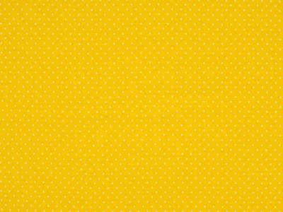 0,5m Jersey Dots Mini Punkte gelb weiß