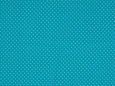 0,5m Jersey Mini Punkte türkis weiß