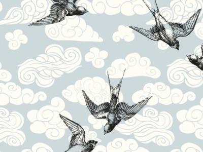 05m Viskose MIESMOOS SEA BIRDS Schwalben