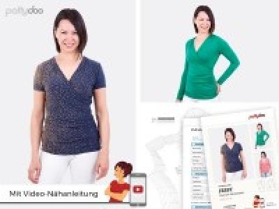 1Stk Jessy Wickelshirt Papier Schnittmuster by