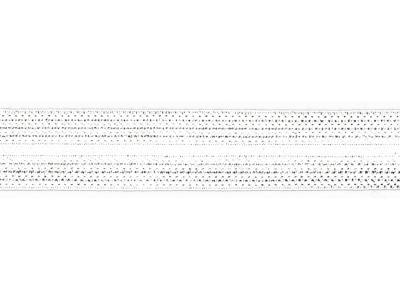 1m Jaquard Schrägband elastisch 20mm weiß
