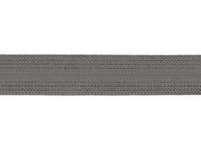 1m Jaquard Schrägband elastisch 20mm grau