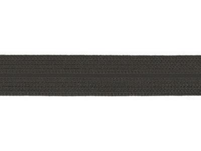 1m Jaquard Schrägband elastisch 20mm antrazith