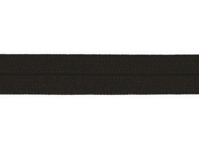 1m Jaquard Schrägband elastisch 20mm schwarz