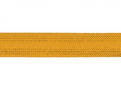 1m Jaquard Schrägband elastisch 20mm senf