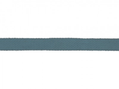1m Baumwollkordel 12mm flach denim jeansblau