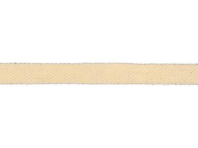 1m Baumwollkordel 12mm flach off white