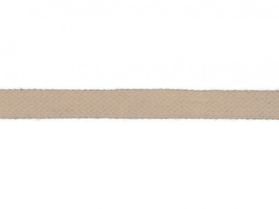 1m Baumwollkordel 12mm flach rock ecru