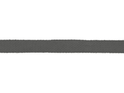 1m Baumwollkordel 12mm flach grau weitere