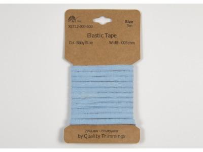 3m FLACHGUMMI Elastic Tape 5mm hellblau