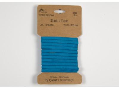 3m FLACHGUMMI Elastic Tape 5mm türkis