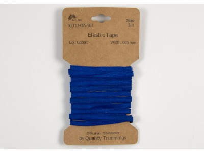3m FLACHGUMMI Elastic Tape 5mm Kobalt