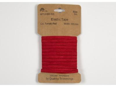 3m FLACHGUMMI Elastic Tape 5mm rot