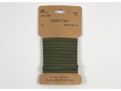 3m FLACHGUMMI Elastic Tape 5mmarmy grün