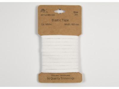 3m FLACHGUMMI Elastic Tape 5mm weiß