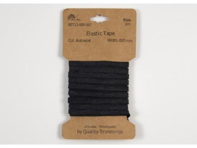 3m FLACHGUMMI Elastic Tape 5mm dunkelgrau