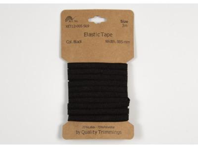 3m FLACHGUMMI Elastic Tape 5mm schwarz