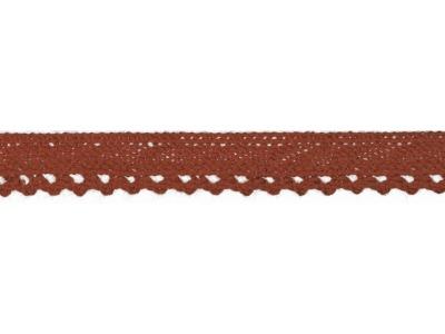 1m Baumwollspitze Häkelspitze 10mm breit terra
