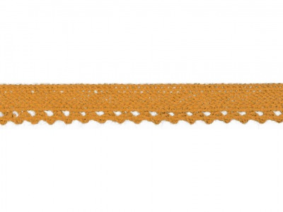 1m Baumwollspitze Häkelspitze 10mm breit ocker