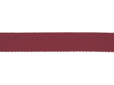 1m Gurtband mm uni bordeaux dunkelrot
