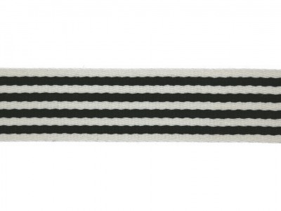 1m Gurtband 40 mm Stripe Marine