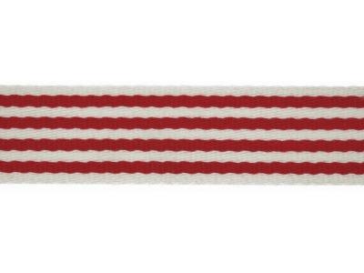 1m Gurtband 40 mm Stripe rot