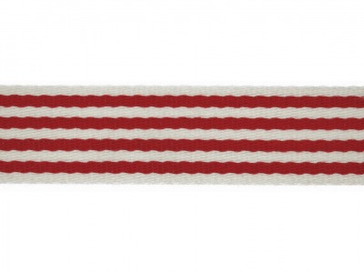 1m Gurtband 40 mm Stripe rot