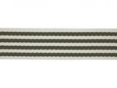 1m Gurtband mm Stripe army grün