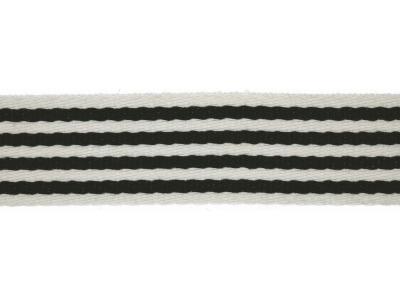 1m Gurtband 40 mm Stripe schwarz