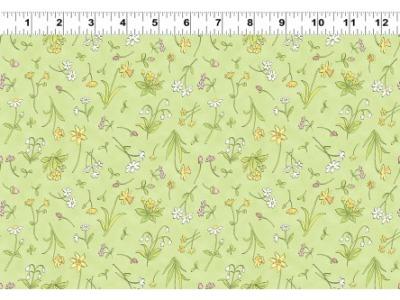 05m BW Patchworkstoff Frühlingswiese hellgrün bunt