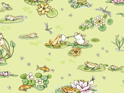 025m Baumwolle Leap Frog Sprung Frosch
