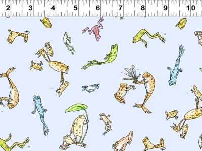 025m Baumwolle Leap Frog lustige Frösche