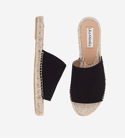 BLACK SUEDE - Slipper Sandal / VK EUR 129 -