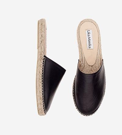 BLACK NAPPA - Mule Sandal / VK EUR 129 -