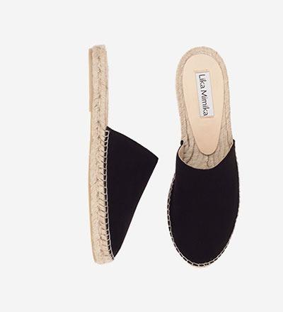 BLACK SUEDE - Slipper Sandal / VK EUR 129 -